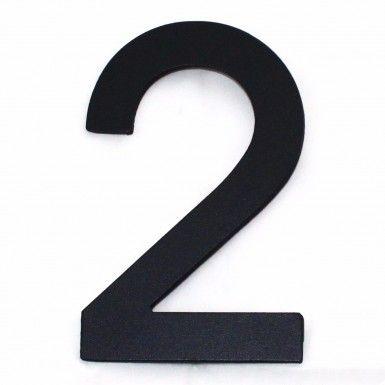 Hausnummer modern Edelstahl Hausnummernschild 2 grau
