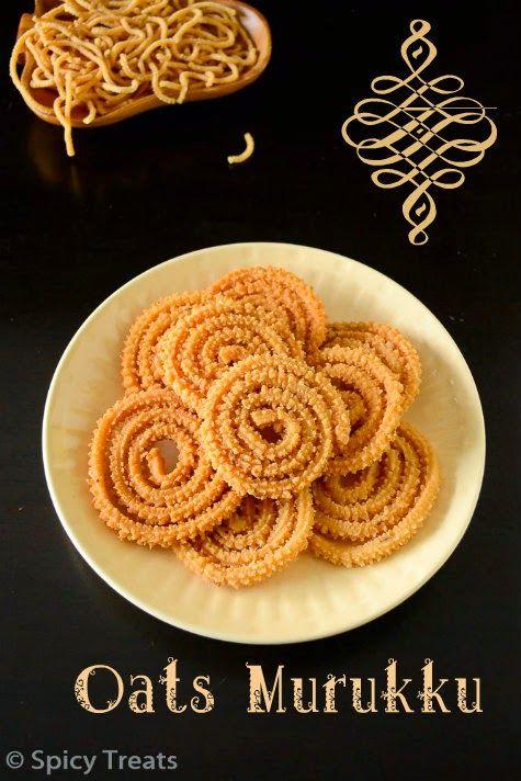 Spicy Treats: Oats Murukku Recipe | Oats Pottukadalai Murukku
