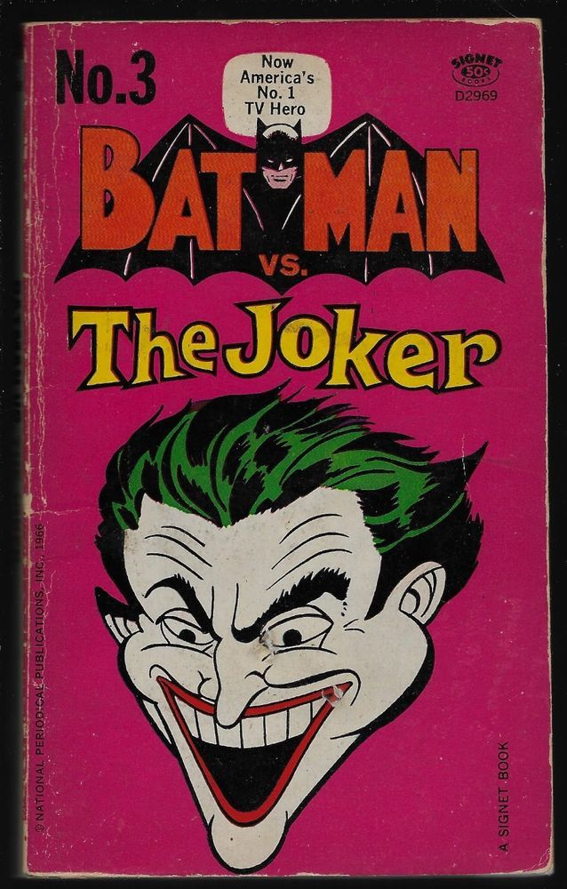 Batman vs. The Joker PB Bob Kane 1966 Signet Book #3 Five First Best Adventures