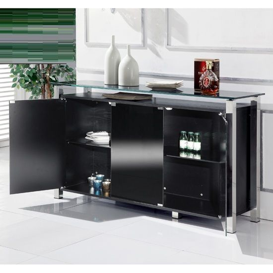 Stunning cabinet is available in a 2 door size. Constructed with quality  and long life. Glass SideboardSideboard CabinetCabinet DoorsBlack ... - 124 Best Sideboards With Drawers Images On Pinterest Drawers