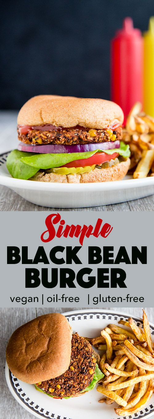 Vegan and oil-free, these simple black bean burgers are made with only 8 ingredients and can be on your plate in about 30 minutes. Gluten-free option, too!