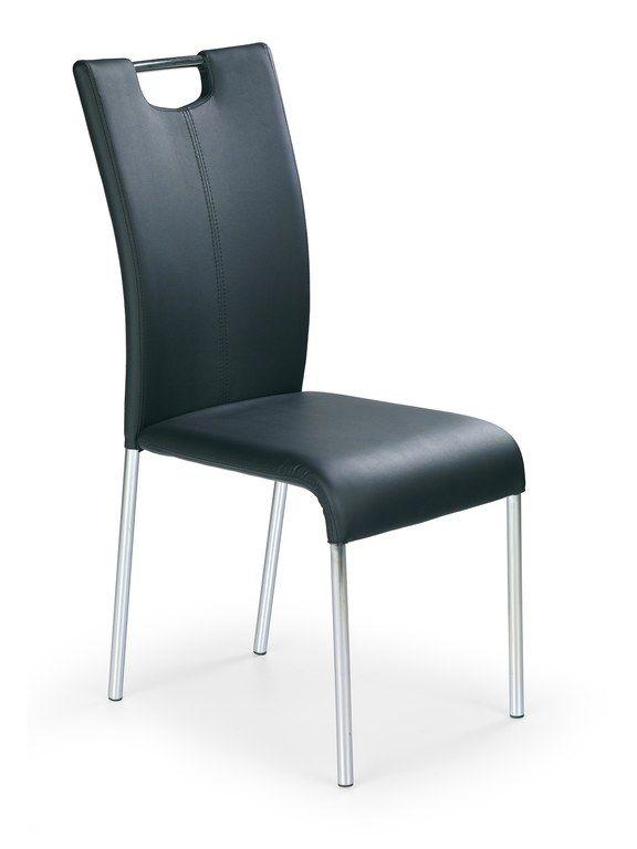 Moderne design eetkamerstoel kunstleer zwart