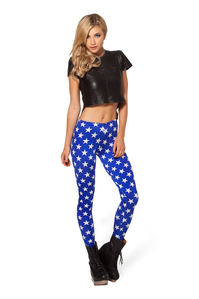 Stars 2.0 Leggings - LIMITED by Black Milk Clothing $60AUD