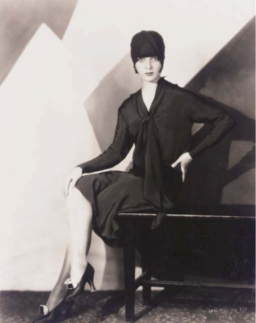 the Louise Brooks Society blog: Cool pic of the day: Louise Brooks looking stylish and deco