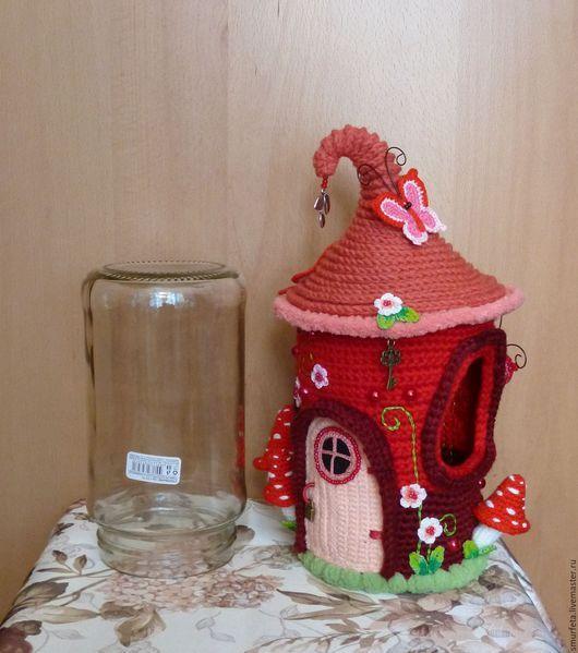 Кукольный дом ручной работы. Домик для бубегена. Smurfeta (уютные вязаные мелочи). Ярмарка Мастеров. Вязаный домик, ярко-красный