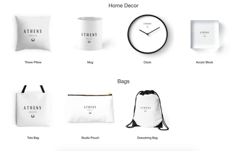 Athens!- Home Decor, Bags, T-shirts and more. Available on Redbubble now.
