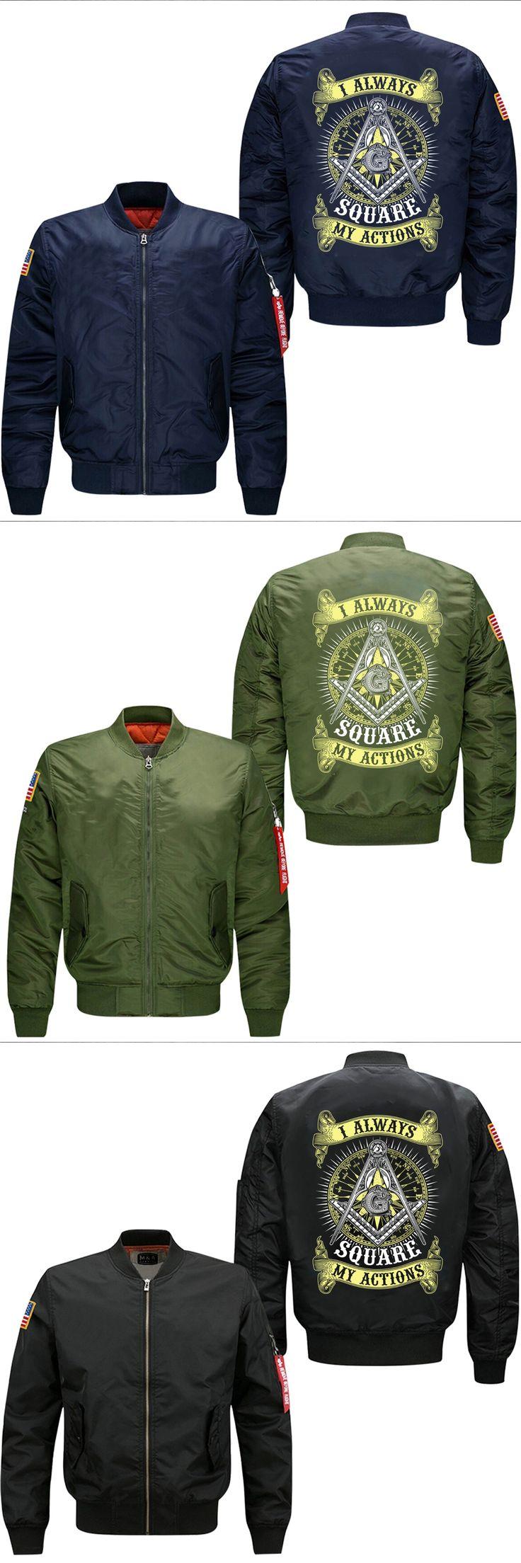 2017 spring men's flight jacket  i always aquare my actions leisure collar code Air Force pilots mans windbreaker jacket