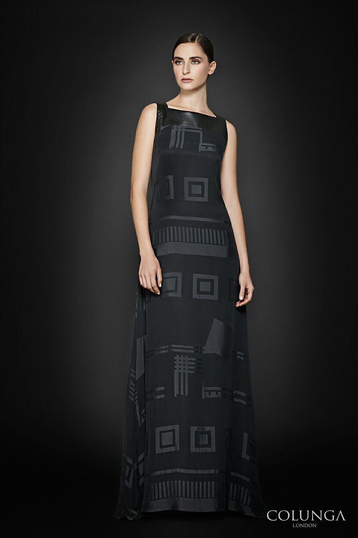 Blanche de Castile. Gown of pure silk satin, leather and silk chiffon.
