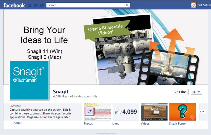 Snagit's page is looking awesome!:  Internet Site,  Website, Web Site