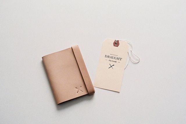 natural leather wallet, Draught