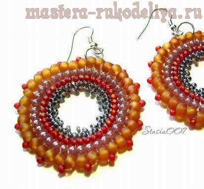Master class on beading: Earrings in technology Ndebele (Russian)