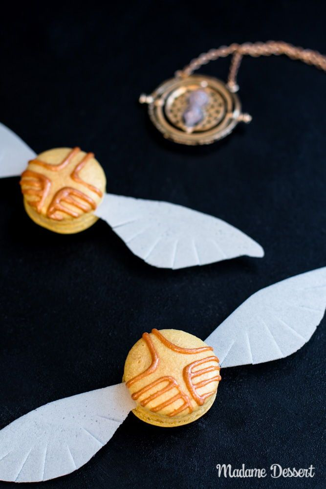 Rezept Harry Potter Macarons Goldener Schnatz Inklusive
