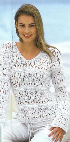 Crochê Tricô - Gráficos: Blusa em Tricô