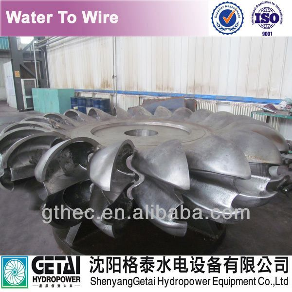 A pelton wheel for water turbine repairation and water-to-wire water turbine generator manufacturer made in china from shenyang $10000~$100000