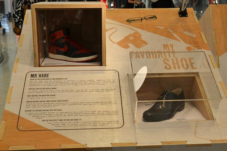 Designer Mr Hare shoe on display at the Westfield My Favourite Shoe Exhibition.