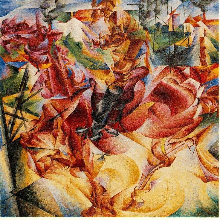 Boccioni, Umberto Elasticity 1912 Oil on canvas 39 3/8 x 39 3/8 in. Collection Dr. Riccardo Jucker, Milan