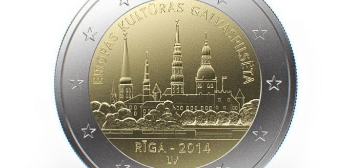 First Latvian commemorative 2 euro coin Riga - European Capital of Culture 2014