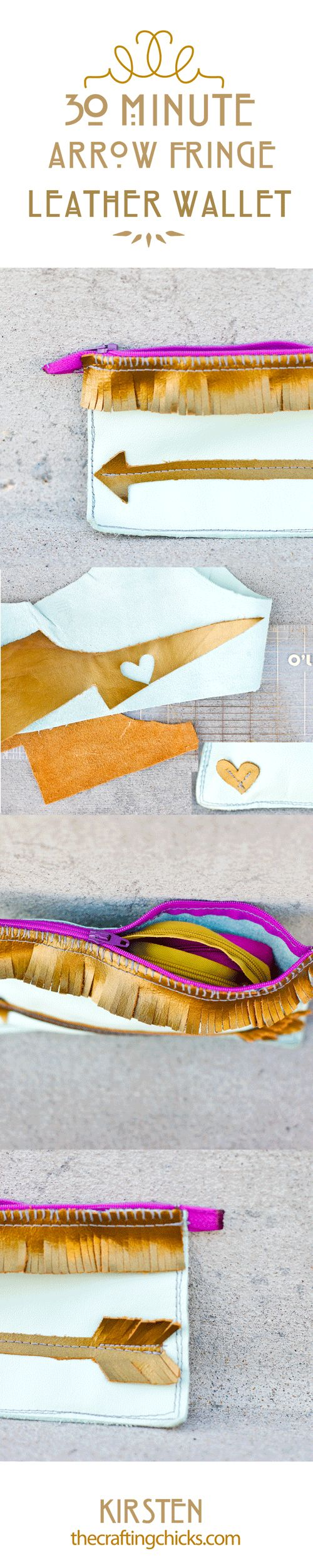 LOVE this idea! Make this cute tribal wallet in just 30 minutes! thecraftingchicks.com