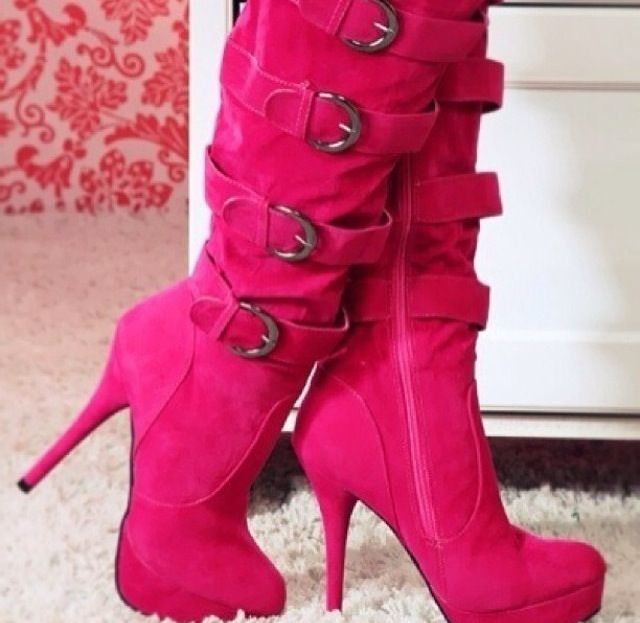 124 best Blue Boots images on Pinterest | Shoes, High heel boots ...