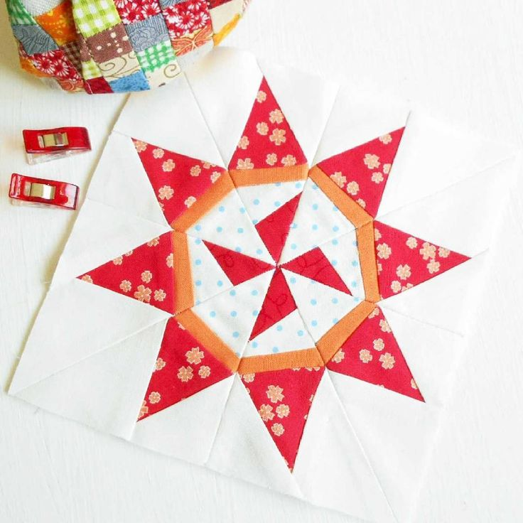 The Splendid Sampler Block 93 - 'Tiny Miracles' designed by April Rosenthal and made using April's beautiful Summerfest fabrics.