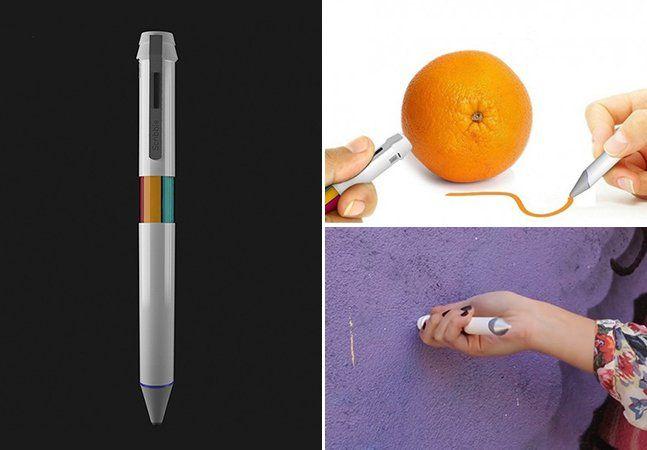 Alô designers, artistas, decoradores e qualquer pessoa que trabalhe com cores: chegou a hora revolucionária de vocês terem a oportunidade de reproduzir a cor que quiserem de qualquer objeto, superfície, tecido, etc.Não é varinha mágica, mas é uma caneta capaz de capturar cores de qualquer objeto e reproduzir, na hora, a cor em um papel ou tela digital. A Scribble é a primeira caneta apta a reproduzir até 16 milhões de cores. O segredo está no scanner na ponta que, pressionado numa…