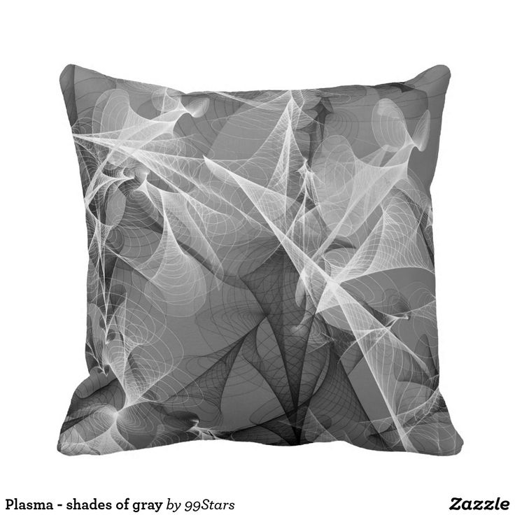 Plasma - shades of gray throw pillow