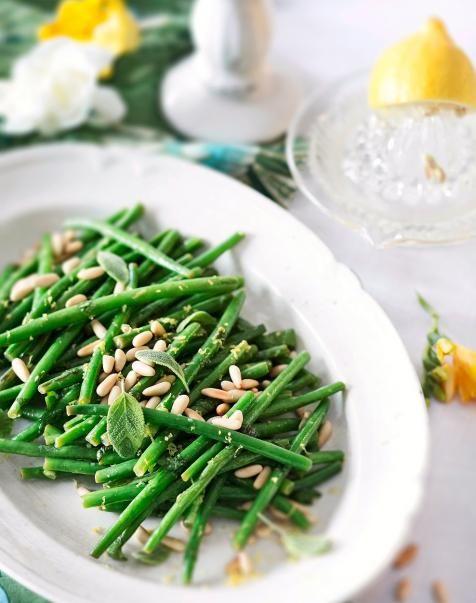 Sitruunalla maustetut vihreät pavut