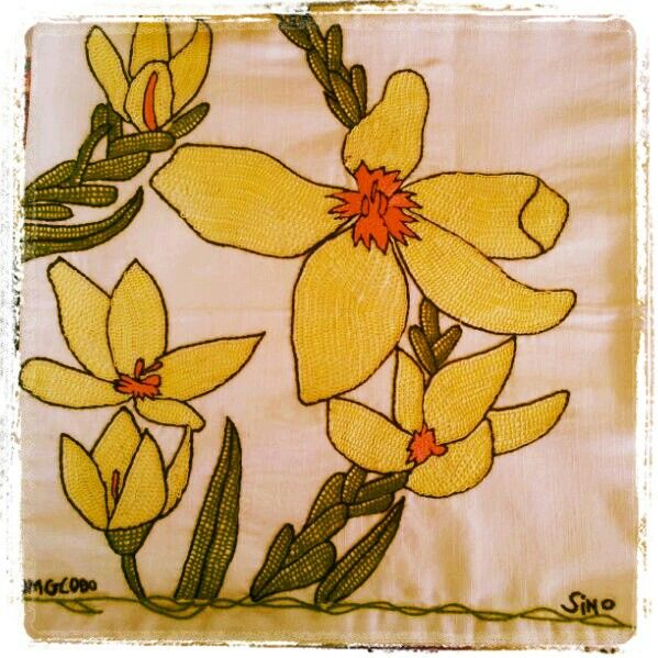 flower cushion cover by Sino