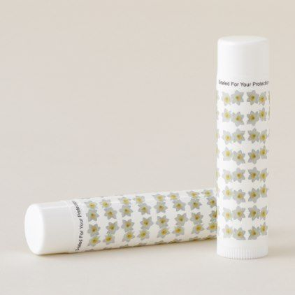 white daffodils lip balm - home gifts ideas decor special unique custom individual customized individualized