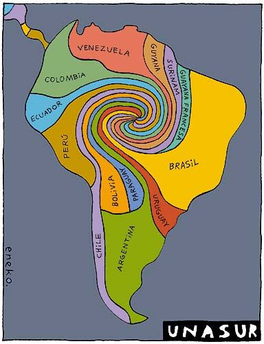 South America Vortex Map