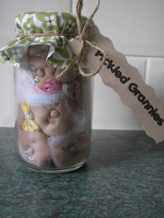 Pickled Grannies by picklecraft on Etsy, £12.99
