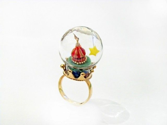Glass dome ring / ガラスドームリング/サーカス小屋 - 池田ひなこ