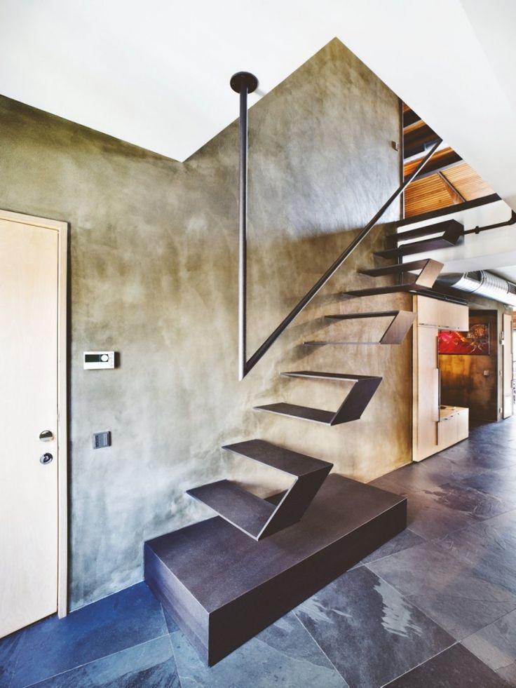 die besten 25 schwebende treppe ideen auf pinterest. Black Bedroom Furniture Sets. Home Design Ideas
