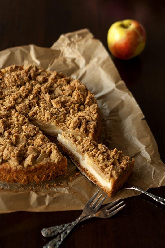 Quark-Apfelkuchen mit Streuseln