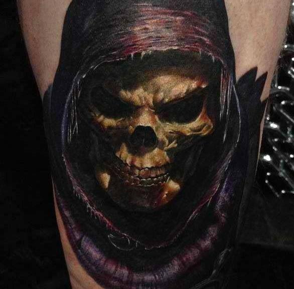 dark skull tattoo skeletor nice ink pinterest