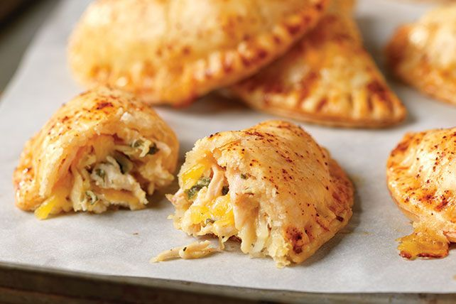 Shredded chicken, chipotle-flavored mayo, melty cheese and fresh cilantro taste even better when tucked into pockets of empanada deliciousness.