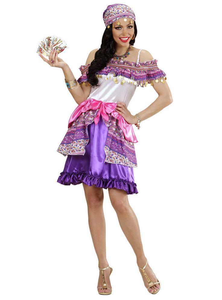 Disfraz de pitonisa zíngara talla grande para mujer