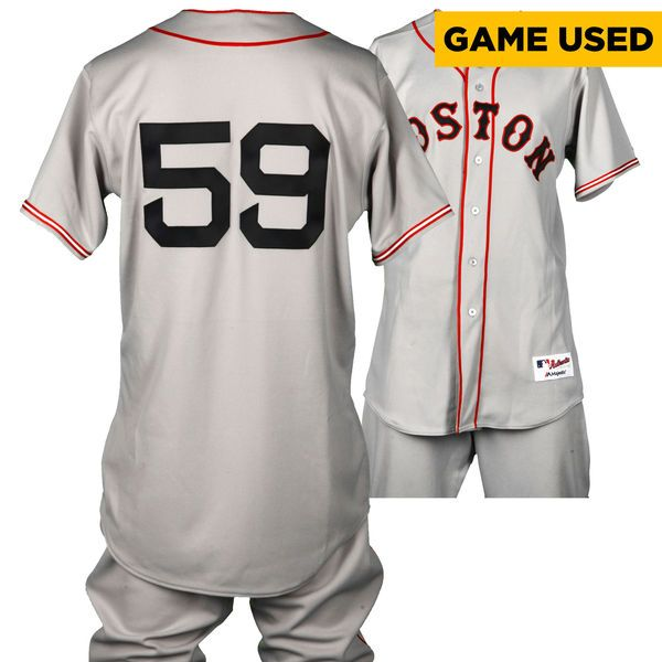 Bryan Holaday Boston Red Sox Fanatics Authentic Game-Used #59 Gray Throwback Uniform on September 7, 2016 vs San Diego Padres - $699.99