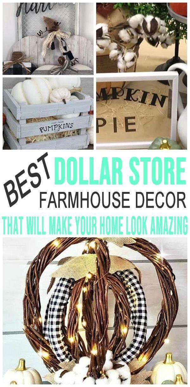 Farmhouse Fall Decor – DIY Dollar Store Farmhouse Decor Ideas & Hacks – Fall Home Decor On A Budget