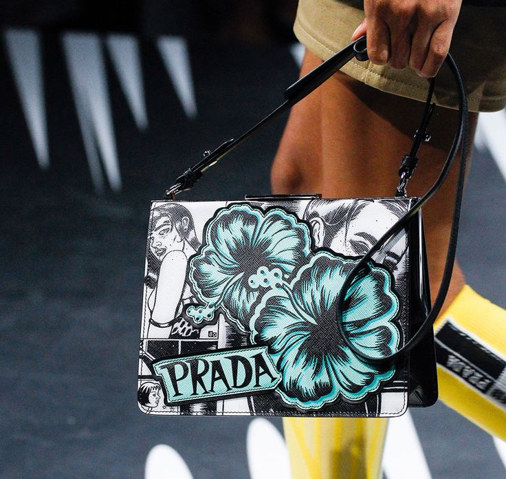 Prada's Spring 2018 Runway Bags Included Lots of Nylon and a Cast of Female Comic Heroes