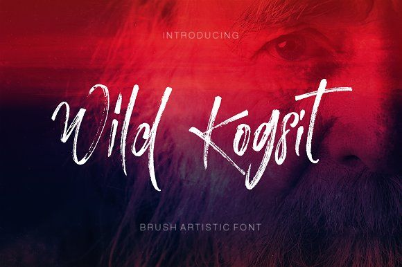 Wild Kogsit Brush Font has almost an unique design that posseses elegancy and charm. Fluidity of ink and hardness of brush created the unique characteristics of the font. You can see the harmony of the curls among the letters.#fonts #brushed #handwritten