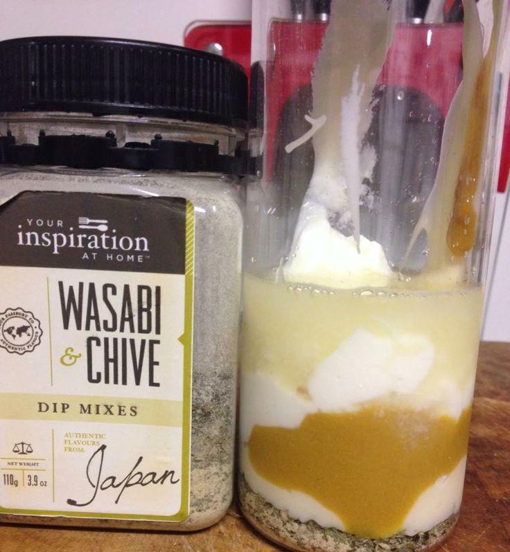 YIAH Inspired Coleslaw dressing  1 tbsp YIAH Wasabi and Chive Dip Mix  2 tbsps Sour Cream / Greek Yoghurt 2 tbsps Mayo  1 tsp Mustard Juice of 1 lemon