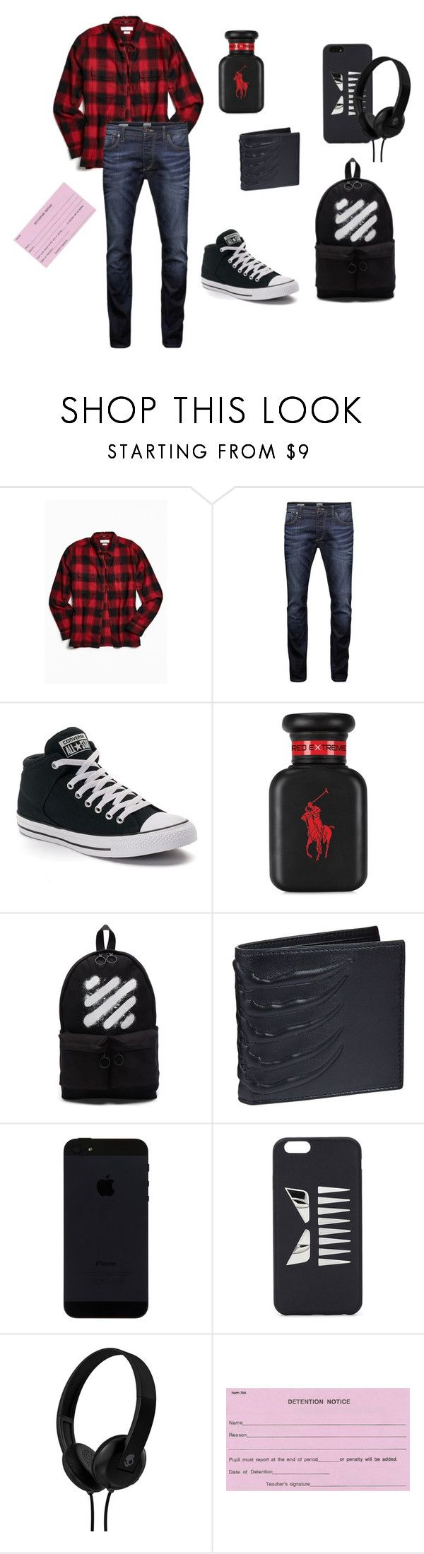 """Cartoon High #1~ Bad Little Boy"" by gravityfallsgirl33 ❤ liked on Polyvore featuring Urban Outfitters, Jack & Jones, Converse, Ralph Lauren, Off-White, Alexander McQueen, Fendi, Skullcandy, men's fashion and menswear"