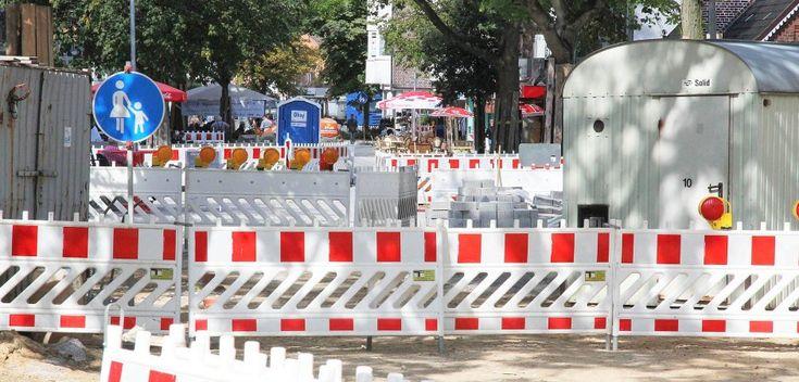 Beim Straßenbau, wie hier bei der Erneuerung der Fußgängerzone 2017, müssen die anliegenden Grundstückseigentümer in Geesthacht bisher immer einen Teil der Kosten tragen.