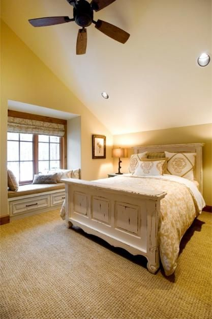 Such A Charming Master Bedroom. #porchloveswindowseats