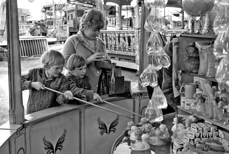 Winning a goldfish at the fair!