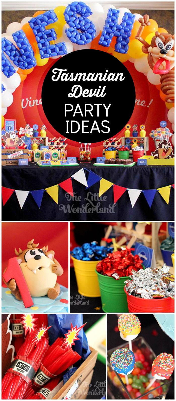 How fun is this Tasmanian Devil birthday party?! See more party ideas at CatchMyParty.com!