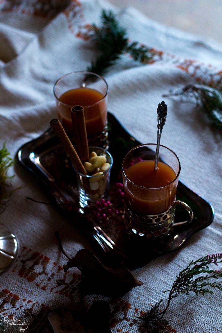 Porkkana-päärynä glögi ilman lisättyä sokeria