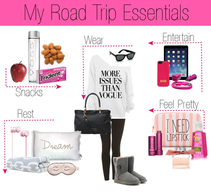 A girl's road trip must haves. All the essentials you need for a smooth ride.