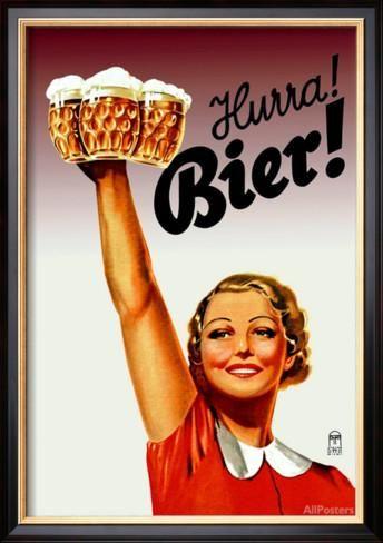 Harra! Bier! Affiche par Gericault sur AllPosters.fr